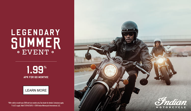 Indian Promotional Financing & Trade-In Offers - 2019 Scout Family at Reno Cycles and Gear