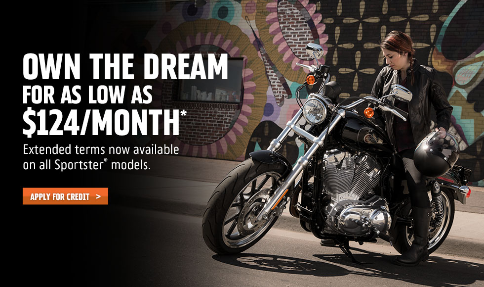 Harley-Davidson 84-Month Sportster Attainability Promotion at #1 Cycle Center Harley-Davidson