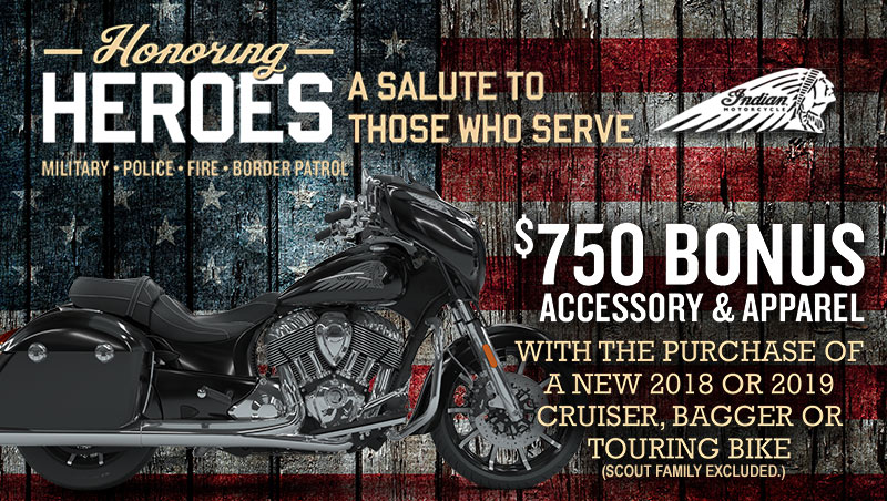Indian Honoring Heroes at Stu's Motorcycles