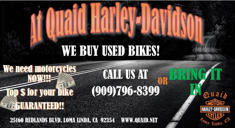 quaid harley-davidson buys used bikes