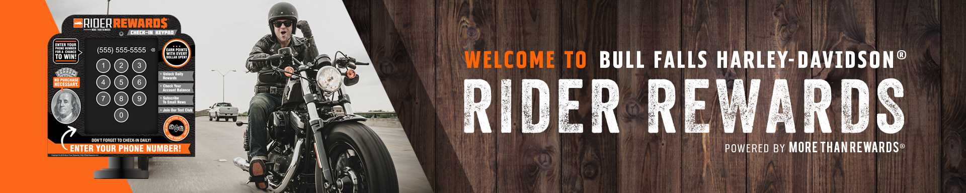 Rider Rewards Program at Bull Falls HD