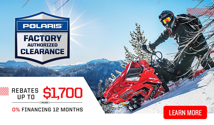 Polaris Factory Authorized Clearence at Reno Cycles and Gear