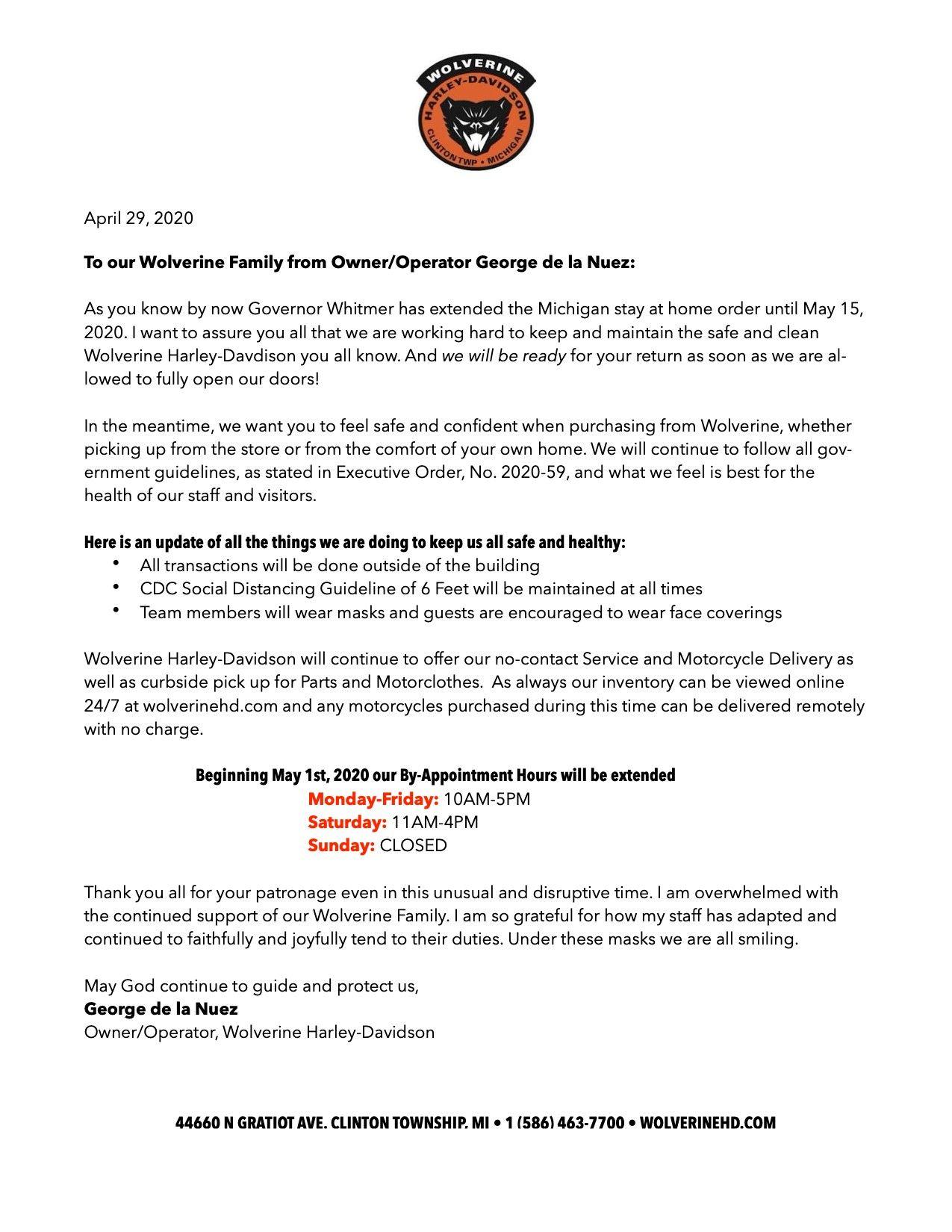April 29 COVID Update
