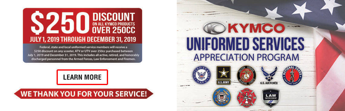 KYMCO Uniformed Services Appreciation Program at Lincoln Powersports