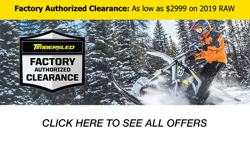 Timbersled Factory Authorized Clearance at Lynnwood Motoplex