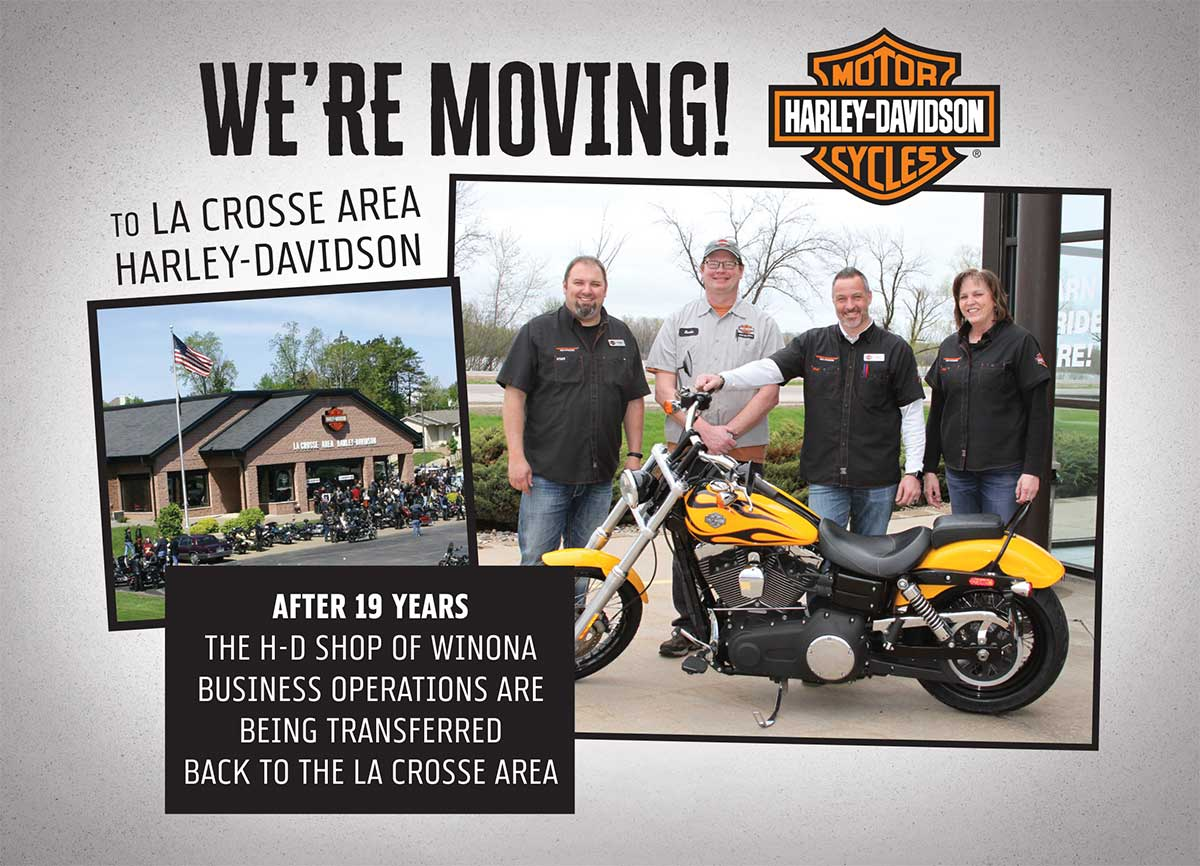 Harley-Davidson of Winona moving to La Crosse Area Harley-Davidson