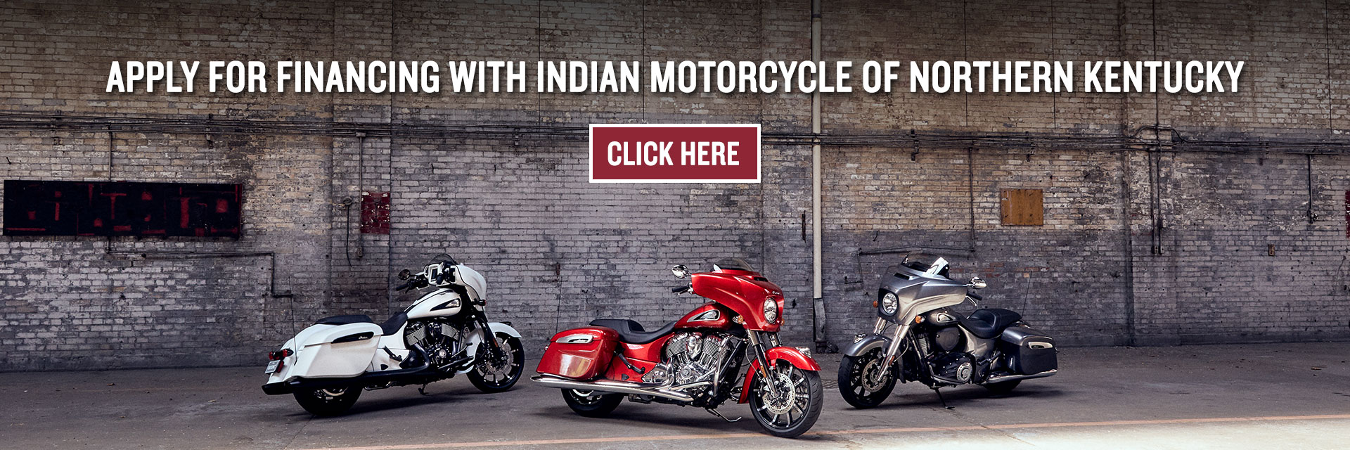 Apply for financing with Indian Motorcycle of Northern Kentucky