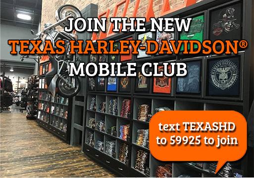 Text club at Texas Harley-Davidson