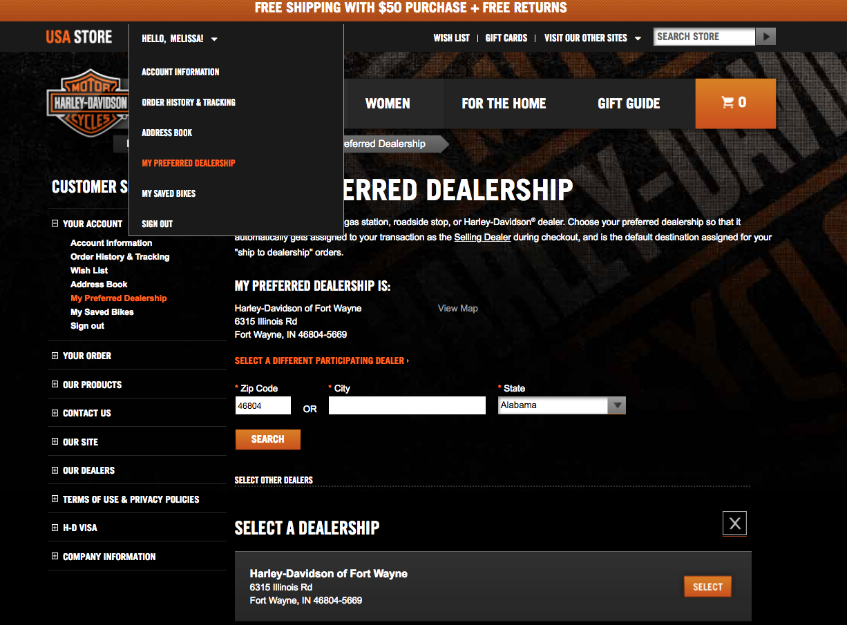 Shop Online With Harley-Davidson of Fort Wayne