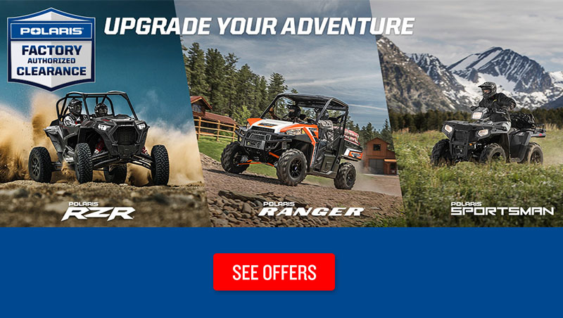 Polaris Factory Authorized Clearance at Lynnwood Motoplex