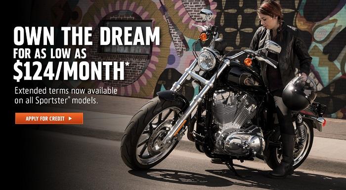 Harley-Davidson 84-Month Sportster Attainability Promotion at Vandervest Harley-Davidson