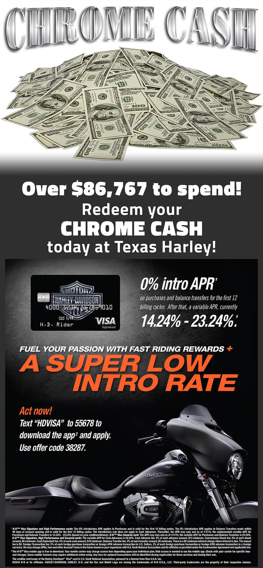 Chrome Cash at Texas Harley-Davidson