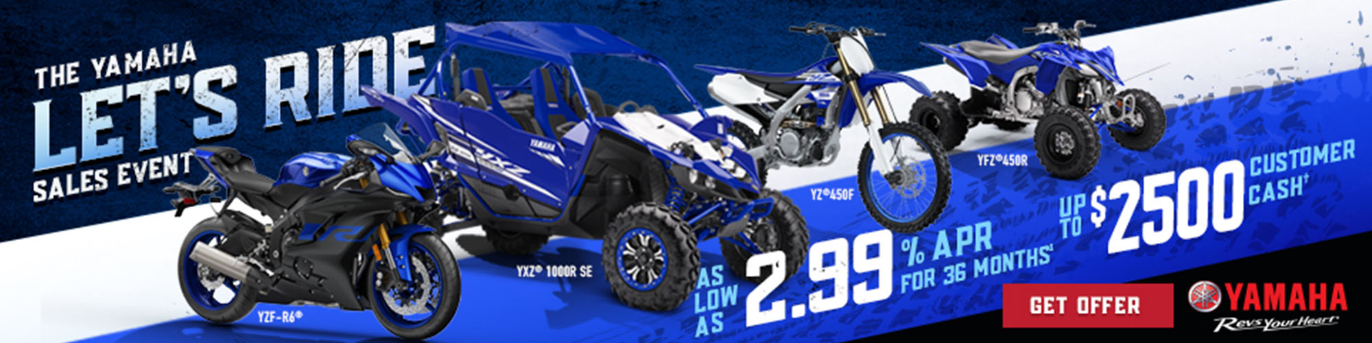 Yamaha Let's Ride Sales Event at Ride Center USA