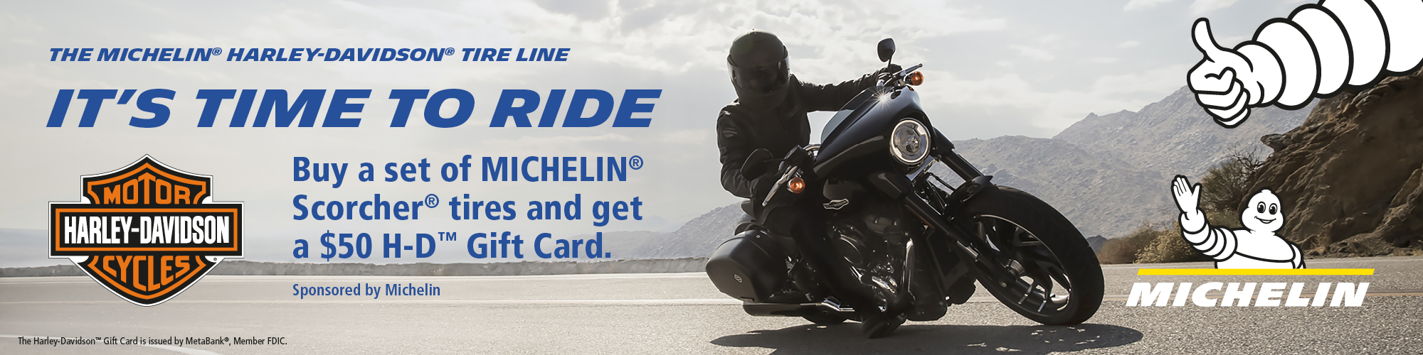 Harley-Davidson 2019 SUMMER MICHELIN® TIRE REBATE PROMOTION at Palm Springs Harley-Davidson