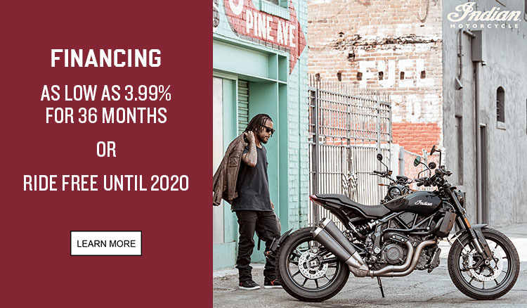 Indian Promotional Financing - 2019 FTR 1200 Family at Reno Cycles and Gear