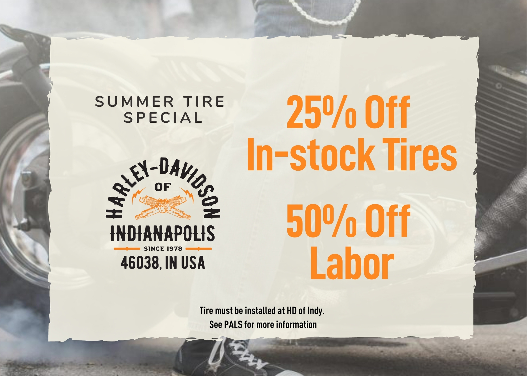 Discount Tires and Installation at Harley-Davidson of Indianapolis | Motorcycle Tires | Dunlop