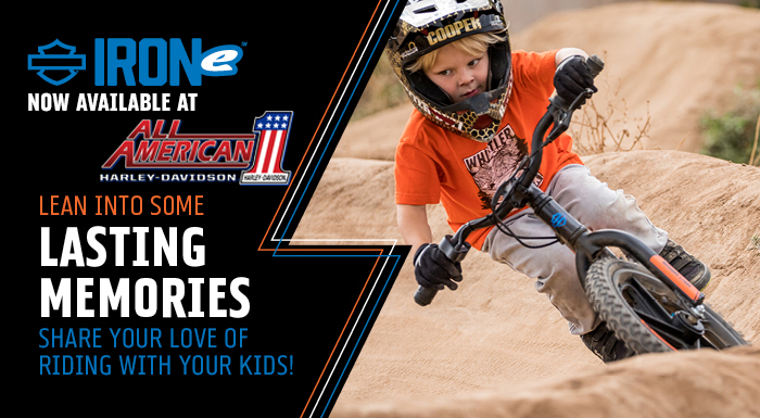 Stacyc Iron-e Motor BIkes now available for your tikes at All American H-D