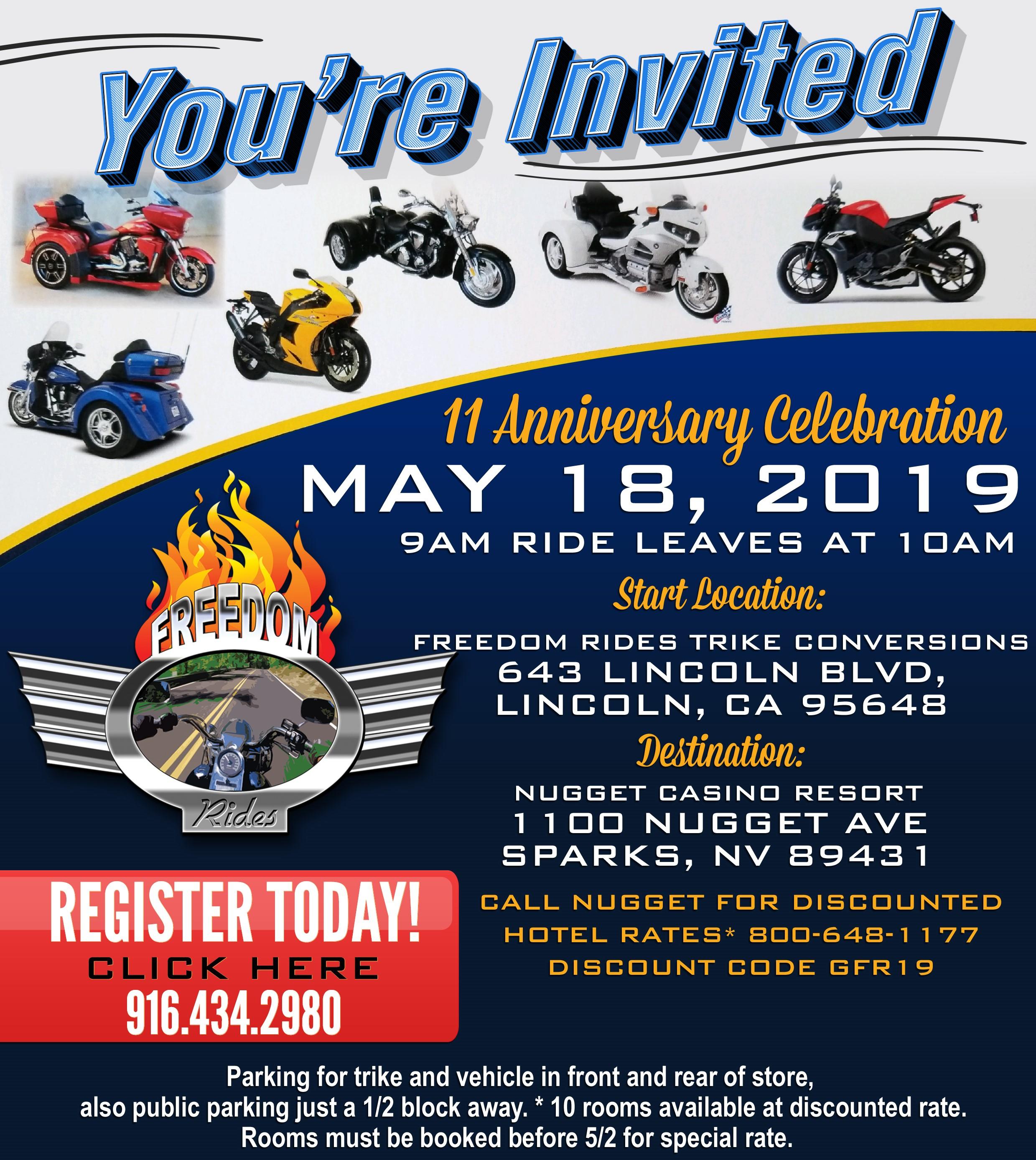 11th Anniversary Celebration at Freedom Rides
