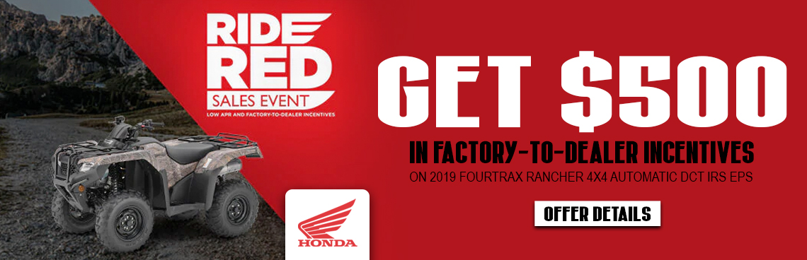 Honda Ride Red Sales Event at Thornton's Motorcycle Sales