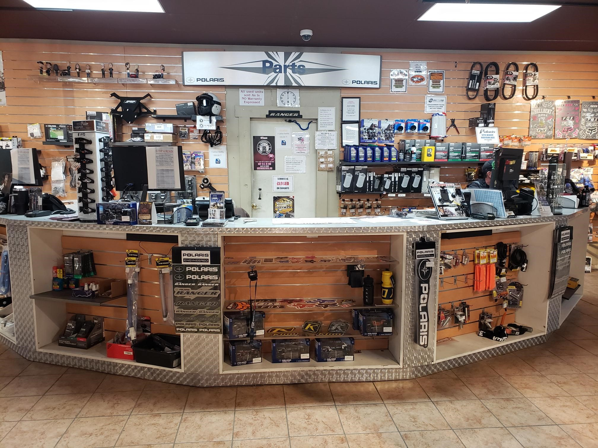 Parts Department at Reno Cycles & Gear