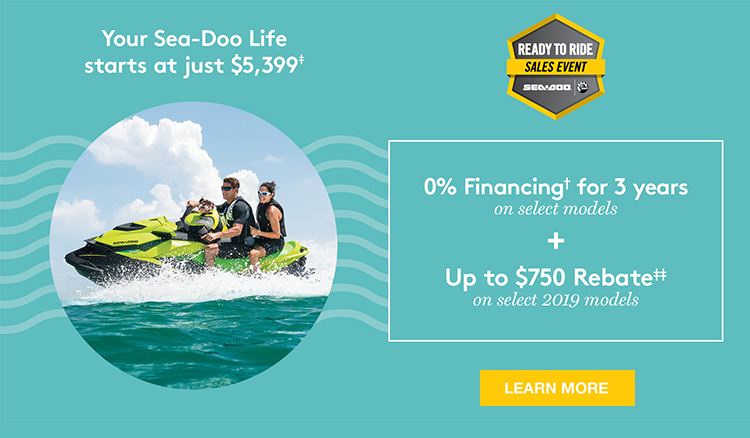 Sea-Doo Ready to Ride Sales Event at Campers RV Center