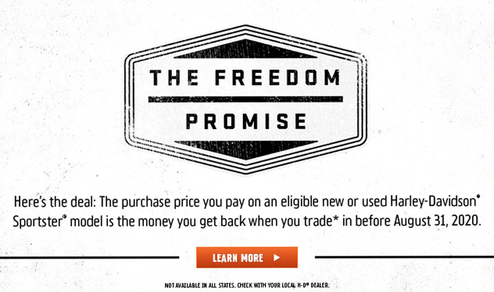 Harley-Davidson Freedom Promise at Bumpus Harley-Davidson of Collierville