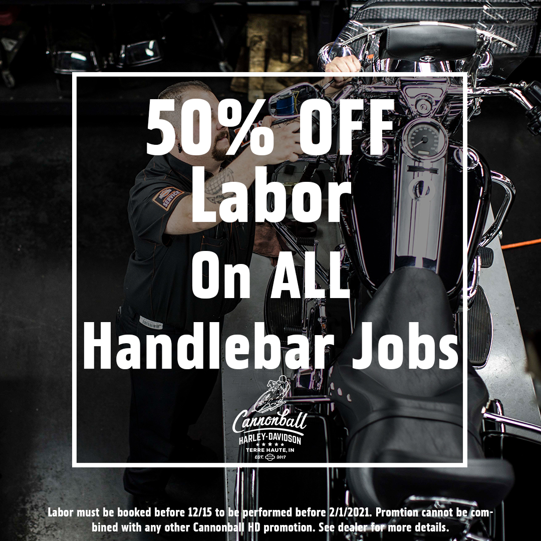 Half Off Labor on Handle Bar Jobs