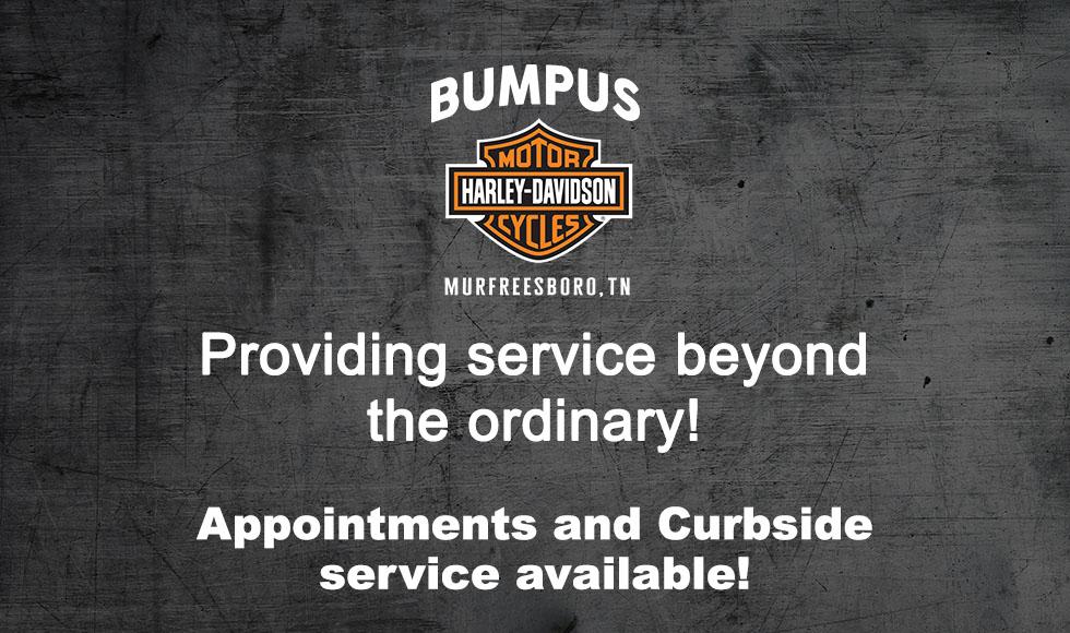 Make an appointment today at Bumpus Harley-Davidson of Murfreesboro