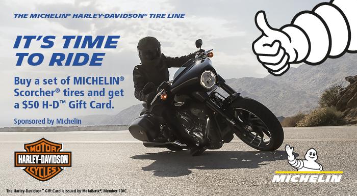 Harley-Davidson 2019 SUMMER MICHELIN® TIRE REBATE PROMOTION at Vandervest Harley-Davidson