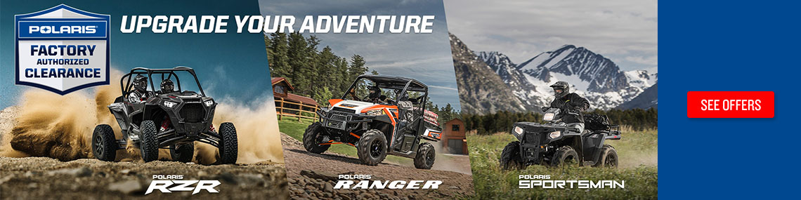 Polaris Factory Authorized Clearance at Fort Fremont Marine