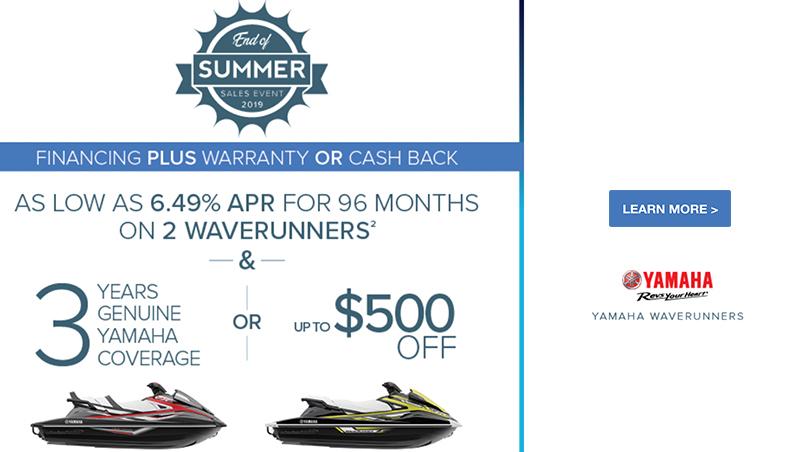 Yamaha Waverunner End of Summer Sales Event at Lynnwood Motoplex