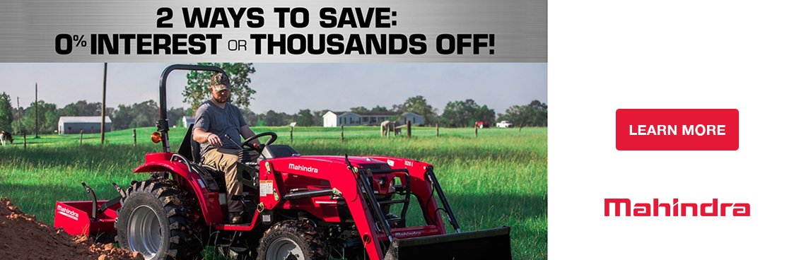 Mahindra 2 Ways to Save Tractor Promotion at Thornton's Motorcycle Sales
