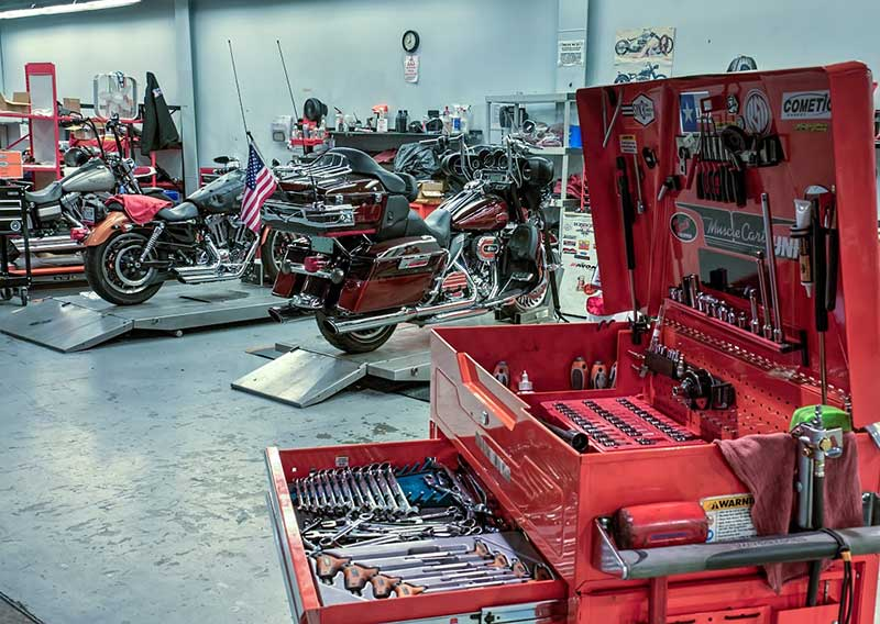 Service Department at All American Harley-Davidson