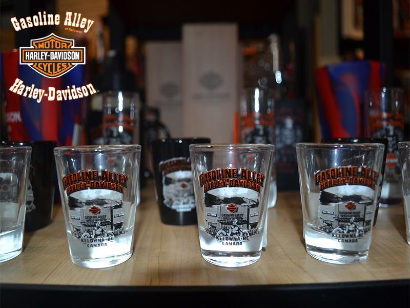 MotorClothes shot glasses at Gasoline Alley Harley-Davidson of Kelowna