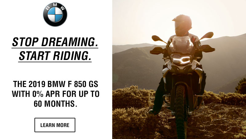 BMW Motorcycles Stop Dreaming Start Riding Financing Promotion at Lynnwood Motoplex