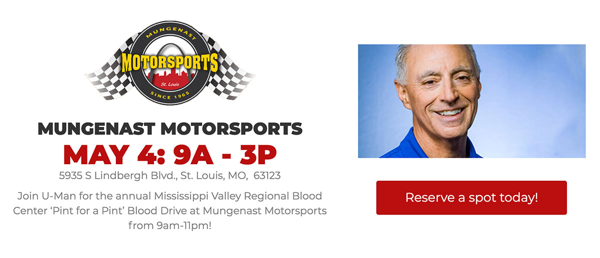 Register for the Blood Drive at Mungenast Motorsports