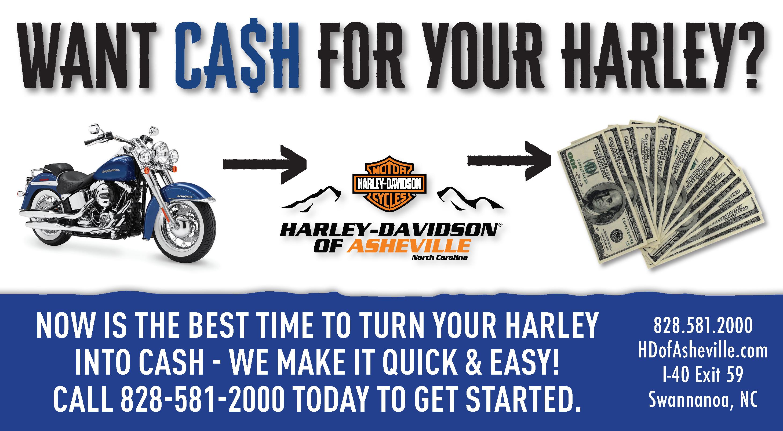 Get Cash for your Harley at H-D of Asheville!