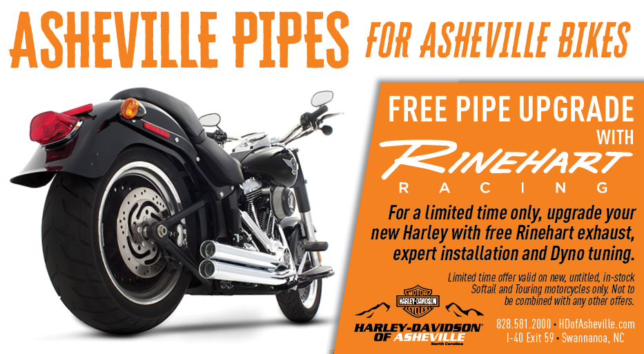 Asheville pipes for Asheville Bikes - Free Rinehart Racing Pipe Upgrade - LIMITED TIME ONLY AT H-D of Asheville!