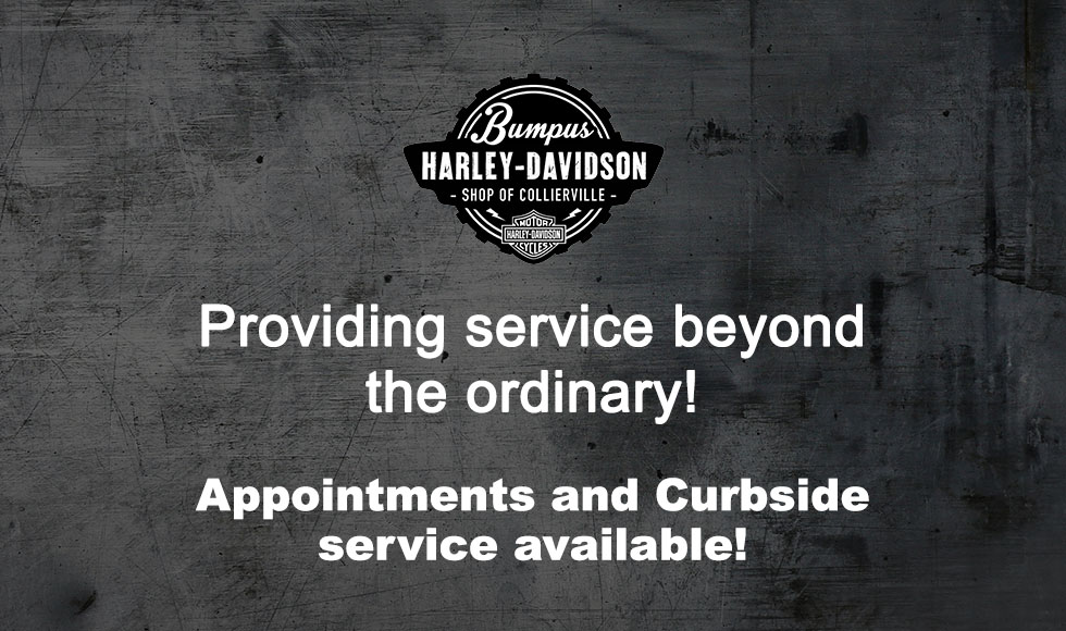 Make an appointment today at Bumpus Harley-Davidson Collierville
