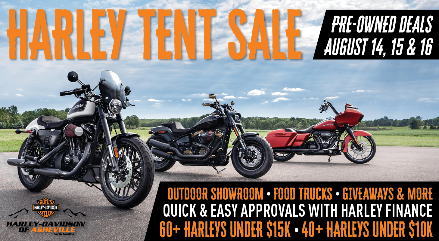 USED HARLEY SALE at Harley-Davidson of Asheville August 14-16!