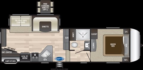 2019 Keystone RV Hideout 262RES 262RES at Campers RV Center, Shreveport, LA 71129