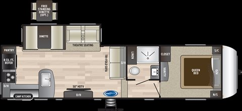 2019 Keystone RV Hideout 292MLS Rear Living at Campers RV Center, Shreveport, LA 71129