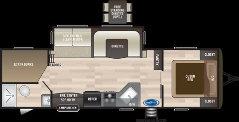 2019 Keystone RV Hideout 28BHS Bunk Beds at Campers RV Center, Shreveport, LA 71129
