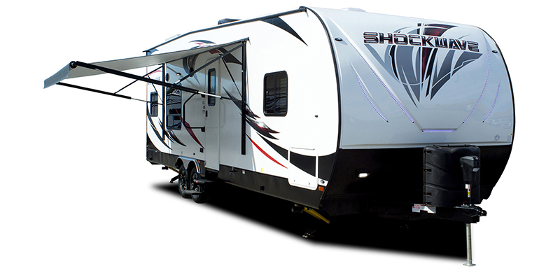 Shockwave 28RQG DX at Youngblood Powersports RV Sales and Service