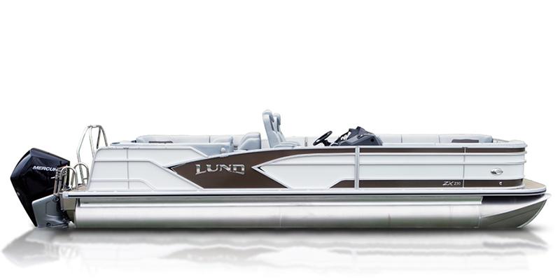 ZX 230 Pontoon Boat Walk Thru Dual Seat at Pharo Marine, Waunakee, WI 53597