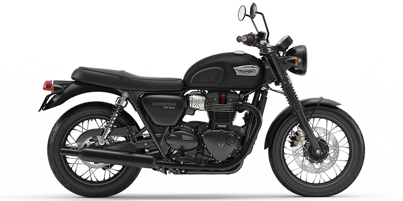Bonneville T100 Black at Eurosport Cycle