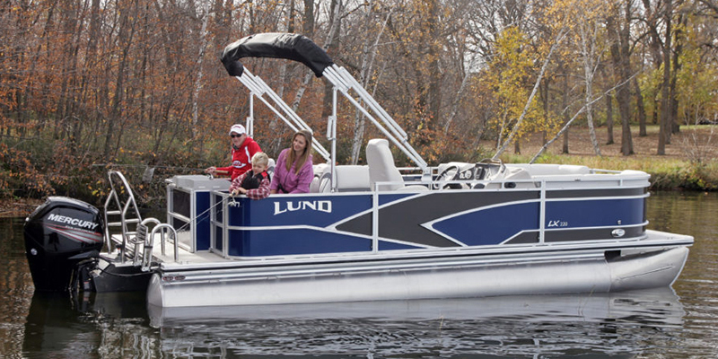 2020 Lund LX 220 Pontoon Boat 4 Point Fish at Pharo Marine, Waunakee, WI 53597