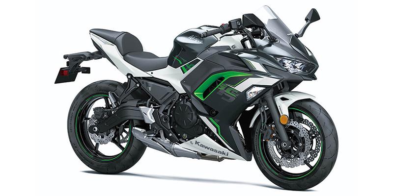 2022 Kawasaki Ninja 650 Pearl Robotic White/Metallic Carbon Gray Base at Martin Moto