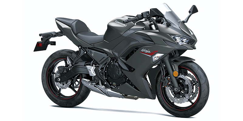 2022 Kawasaki Ninja 650 ABS Pearl Robotic White/Metallic Carbon Gray ABS at Martin Moto