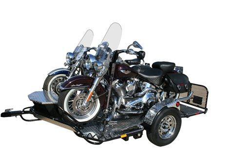 "2018 DropTail Cruiser/ Sport Bike ""TWO-UP"" CRUISER/SPORT BIKE TRAILER at Randy's Cycle, Marengo, IL 60152"